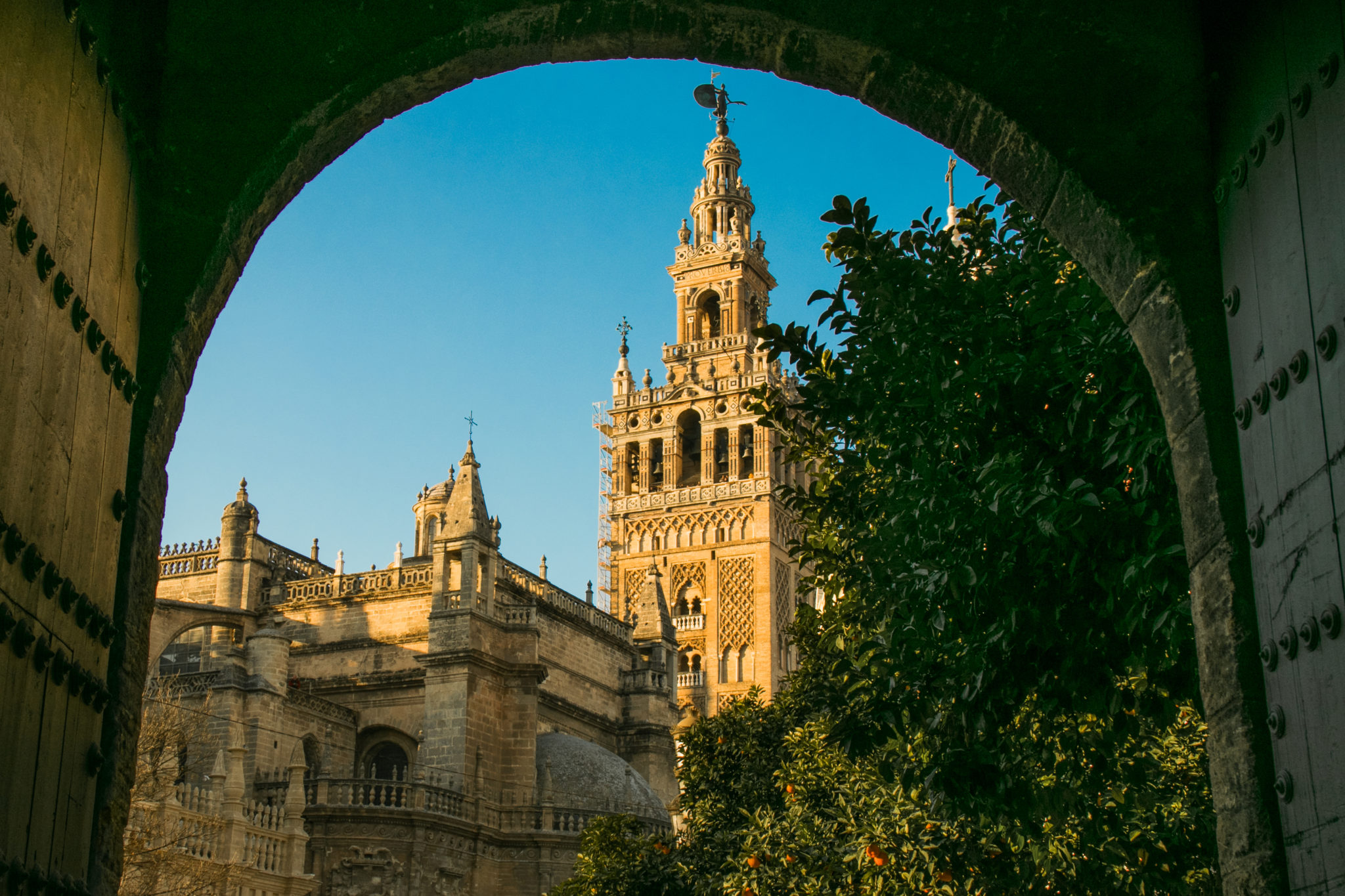 La Giralda in Seville, Spain, one of the most iconic places in the city